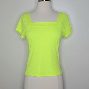 Good Luck Gem | NWT Neon Ribbed Top